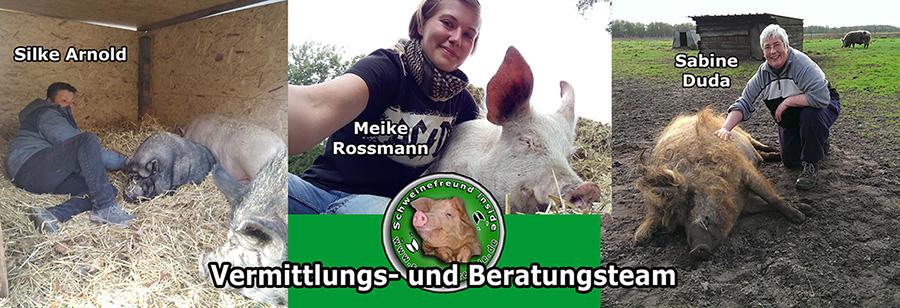 Unser kompetentes Beratungsteam rund um Schweine und Minischweine